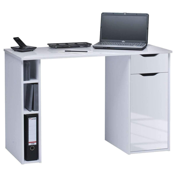 Altura White Gloss Computer Desk - FurniComp