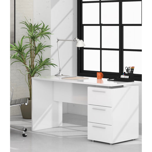 Arco Artic White Home Office Computer Desk - FurniComp