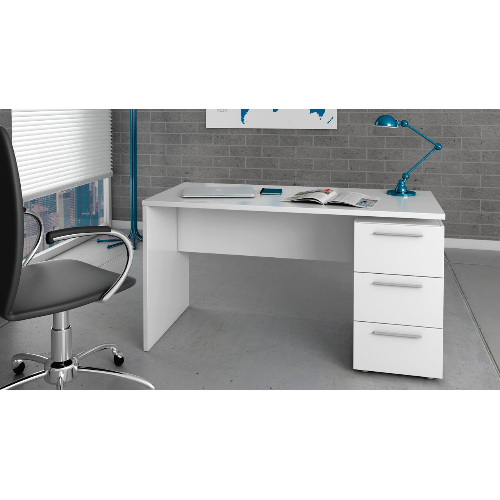 Arco Soft White Gloss Computer Office Desk Table