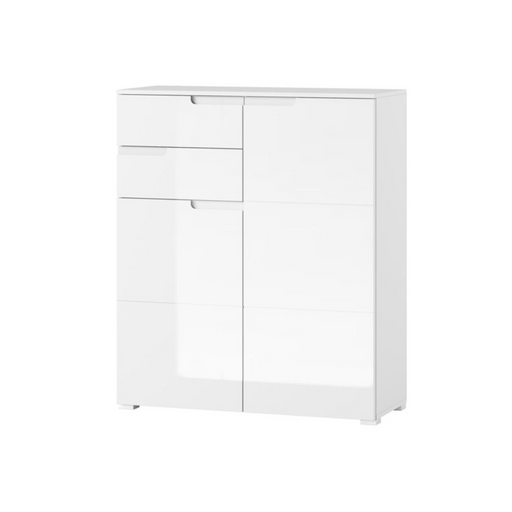 Aspen High Gloss White Tall 2 Door Sideboard