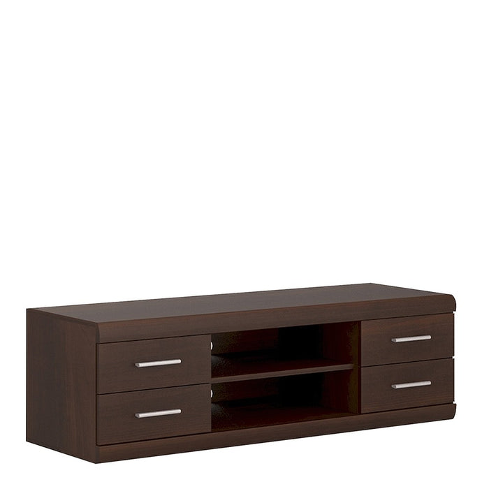 Aubrey Dark Mahogany Wide 4 Drawer TV Cabinet - FurniComp