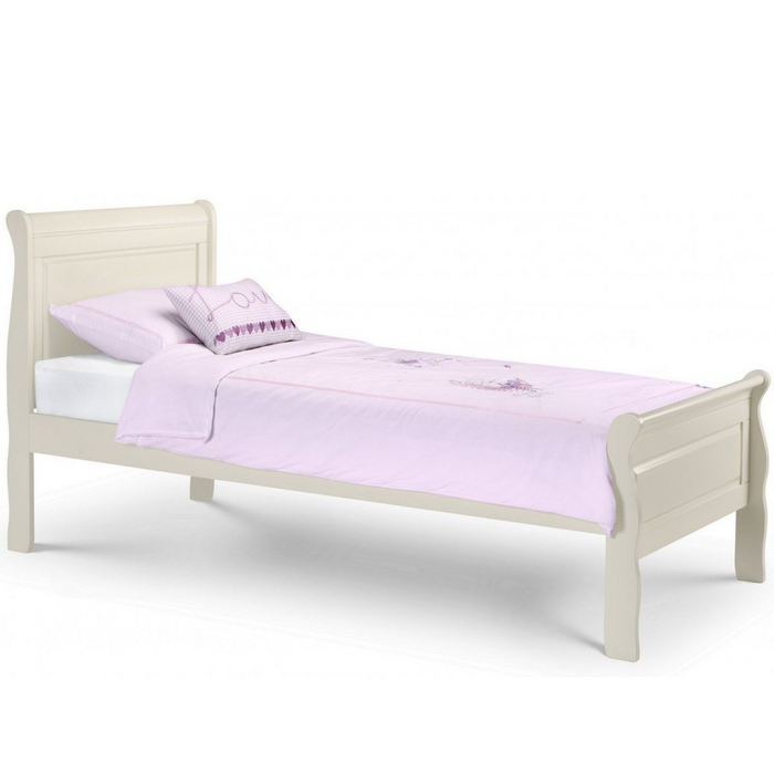 Aubrey Stone White Single Bed