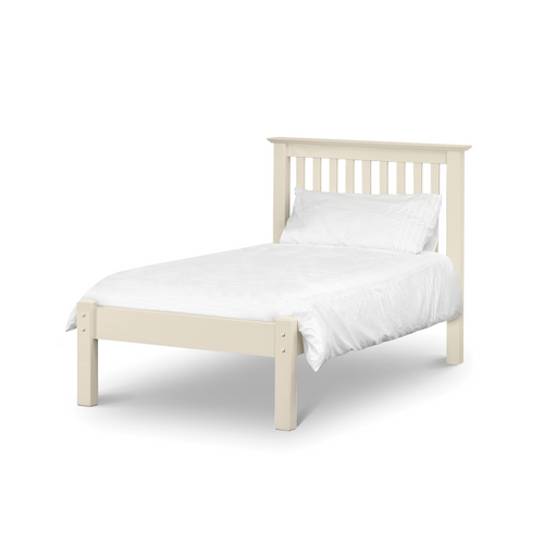 Peru Shaker Style Solid Pine Low Foot End Single Bed Frame