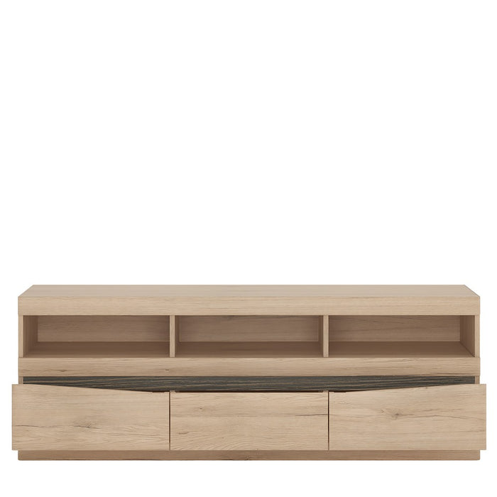 Beckenham Oak 3 Drawer TV Unit - FurniComp