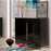 Berlin Gloss Black Compact Small Sideboard Storage Display Cabinet Unit
