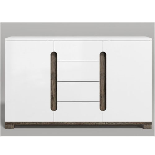 Berlin Gloss White Wide Sideboard Cabinet Storage Unit
