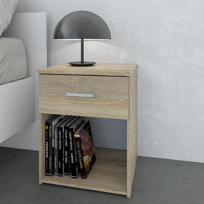 Best 1 Drawer Oak Bedside - FurniComp