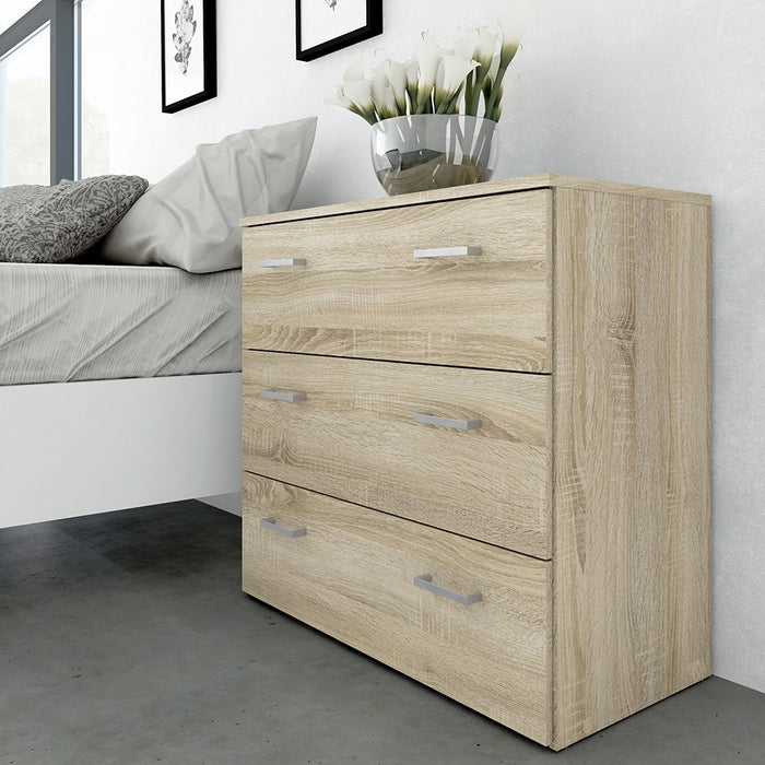 Best 3 Drawers Oak Chest of Drawer - FurniComp