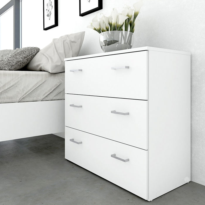 Best 3 Drawers White Chest of Drawer - FurniComp