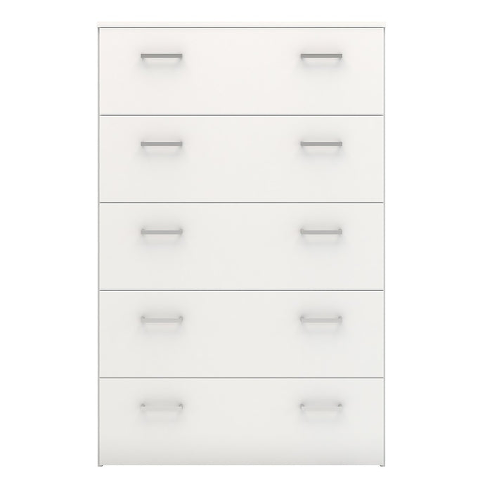 Best 5 Drawers White Chest of Drawer - FurniComp