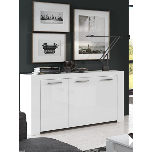 Boston Soft Alpine White Gloss Sideboard Storage Cabinet