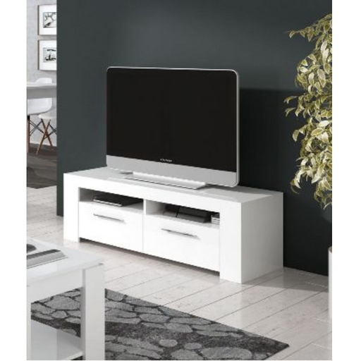 Boston Artic Matt White TV and Media Unit - FurniComp