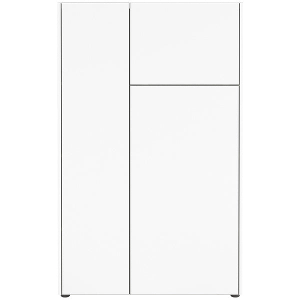 Bremen 2 Door 1 Flap White and Graphite Highboard/Sideboard - FurniComp