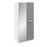 Brooke High Gloss Grey and White 2 Door Mirrored Wardrobe - FurniComp