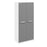 Brooke High Gloss Grey and White 2 Door Wardrobe - FurniComp