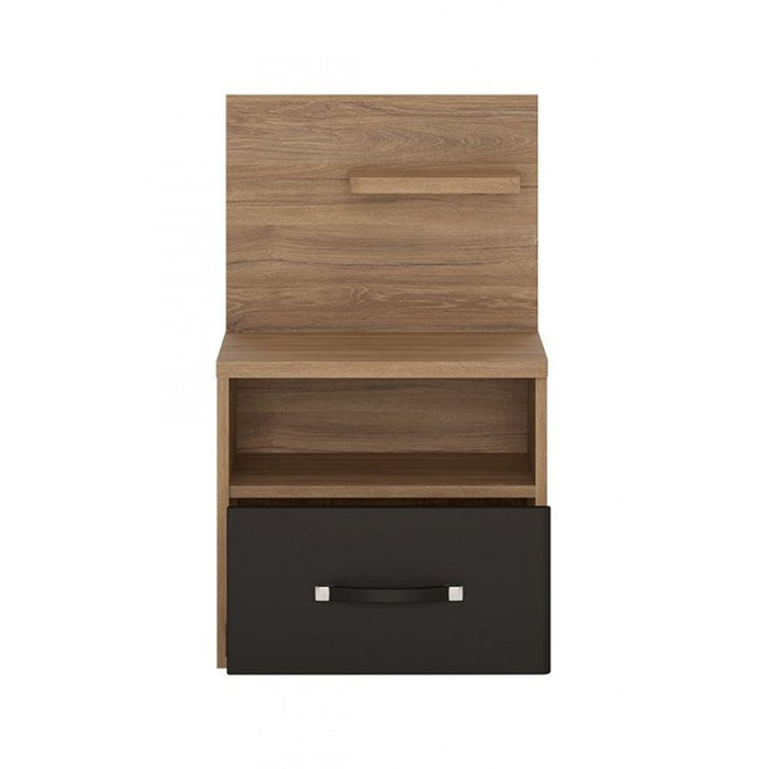 Buckingham Stirling Oak 1 Drawer Bedside with Open Shelf (RH) - FurniComp