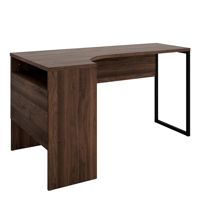 Burford Walnut Corner Home Office Desk - FurniComp