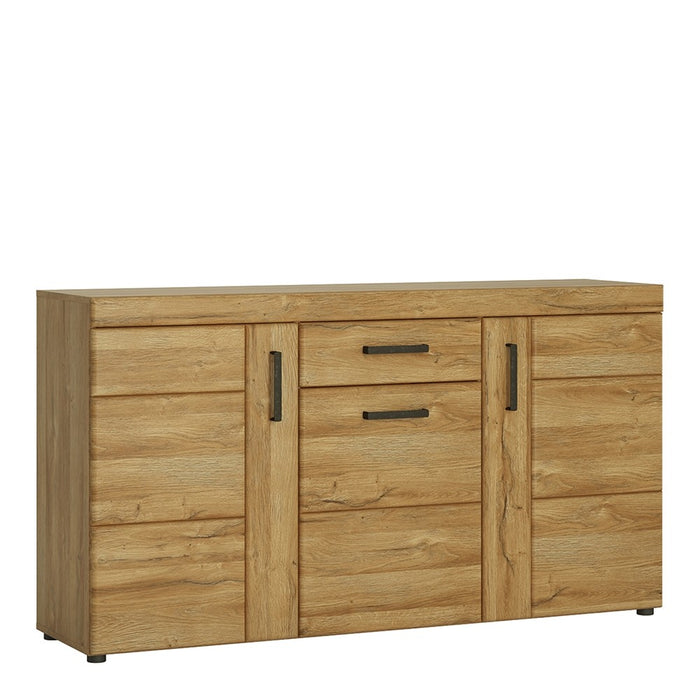 Carolina 3 Door 1 Drawer Grandson Oak Effect Sideboard - FurniComp