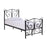 Claire Black Metal Frame Bed - FurniComp