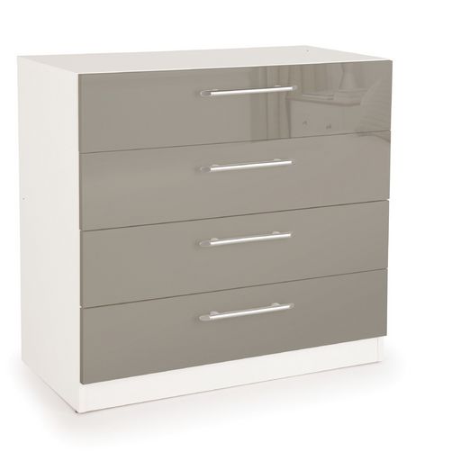 Collection Boston High Gloss Grey 4 Drawer Chest IP005