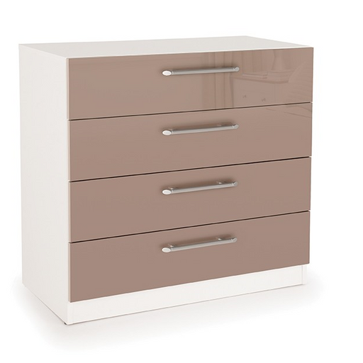 Collection Boston High Gloss Mocha 4 Drawer Chest IP006