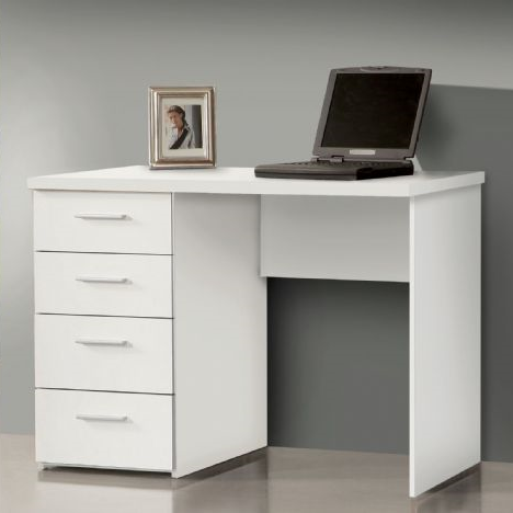 Delta Small White Desk with Drawers