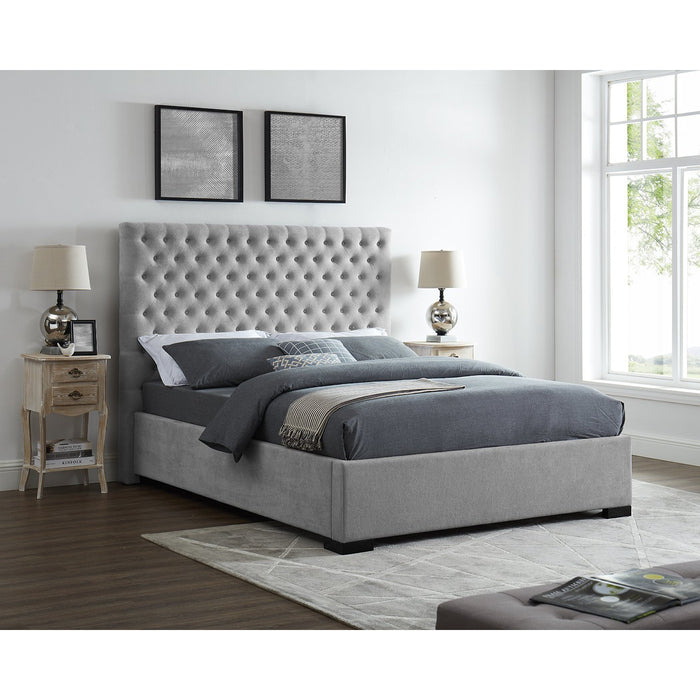 Eleanor Grey Fabric Bed - FurniComp