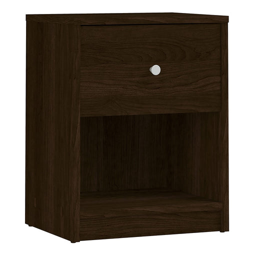 Felix 1 Drawer Dark Walnut Bedside - FurniComp
