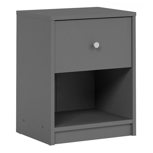 Felix 1 Drawer Grey Bedside - FurniComp