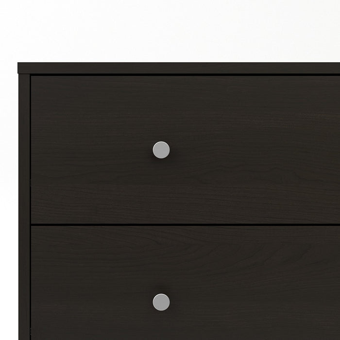 Felix 5 Drawers Dark Walnut Chest of Drawer - FurniComp