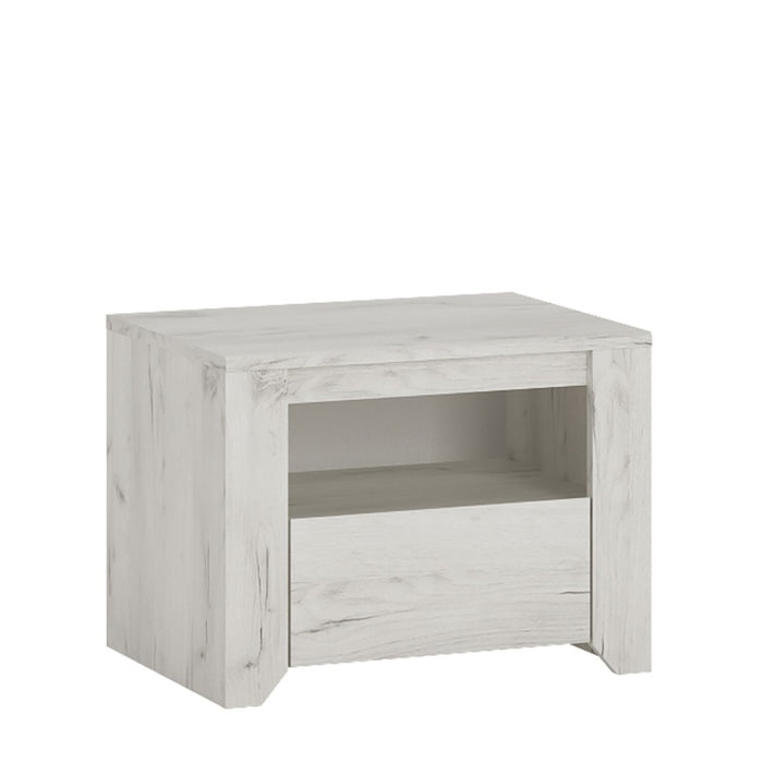 Florence Alpine White 1 Drawer Bedside - FurniComp