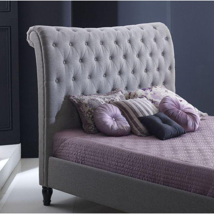 Freya Grey Marl Fabric Bed Frame - FurniComp