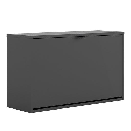 Function 1 Tilting Door 2 Layer Black Shoe Cabinet - FurniComp