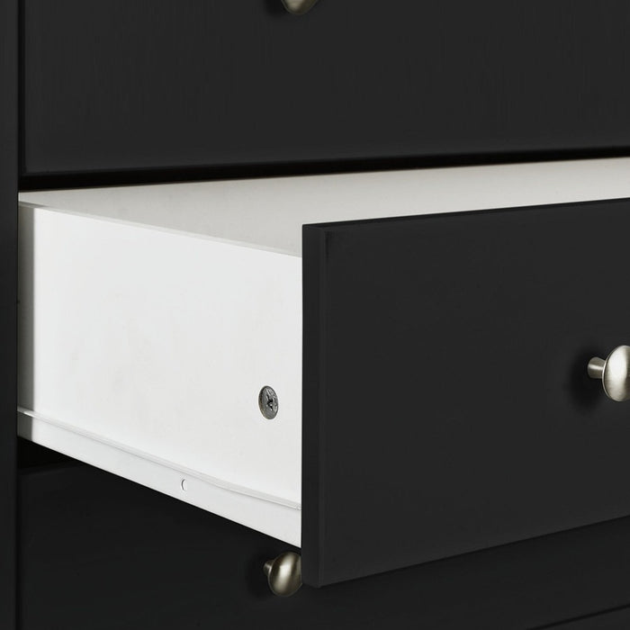 Hampton Black 2+4 Drawer Chest of Drawer - FurniComp