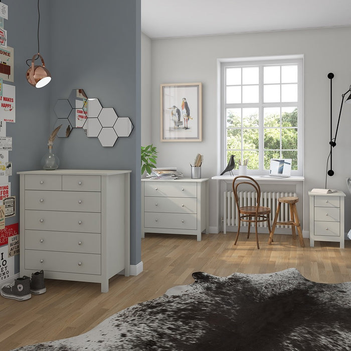 Hampton Soft Grey 2+4 Drawer Chest of Drawer - FurniComp
