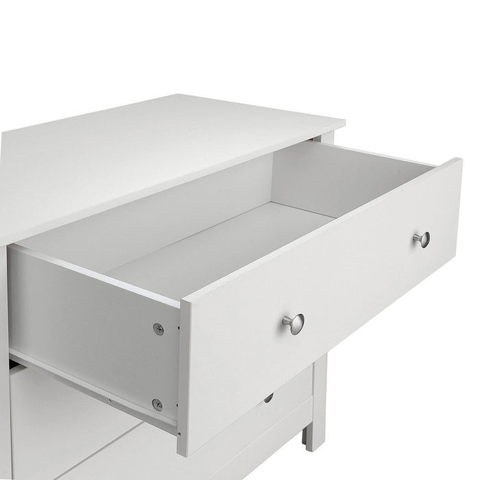Hampton White 3 Drawer Chest of Drawer - FurniComp