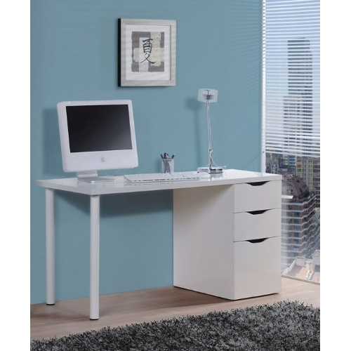 Jaffo Artic Matt White Computer Desk Home Office Furniture - FurniComp