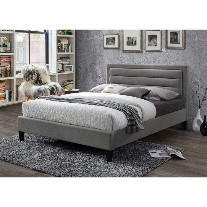 Kali Grey Marl Fabric Bed Frame - FurniComp