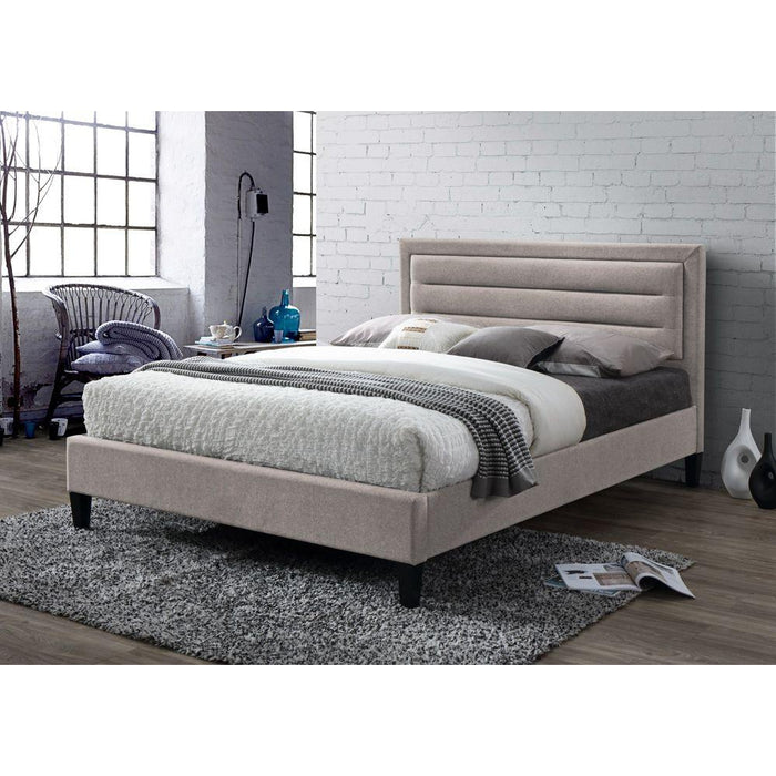 Kali Mink Velvet Fabric Bed Frame - FurniComp