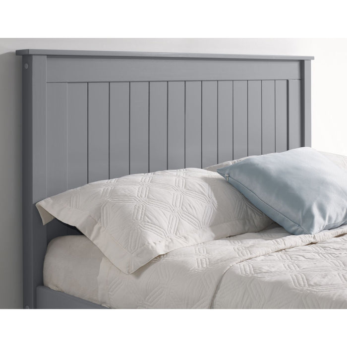 Kara Grey Painted Low Foot End Wooden Bed Frame - FurniComp