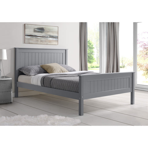 Kara Grey Painted Wooden Bed Frame - FurniComp