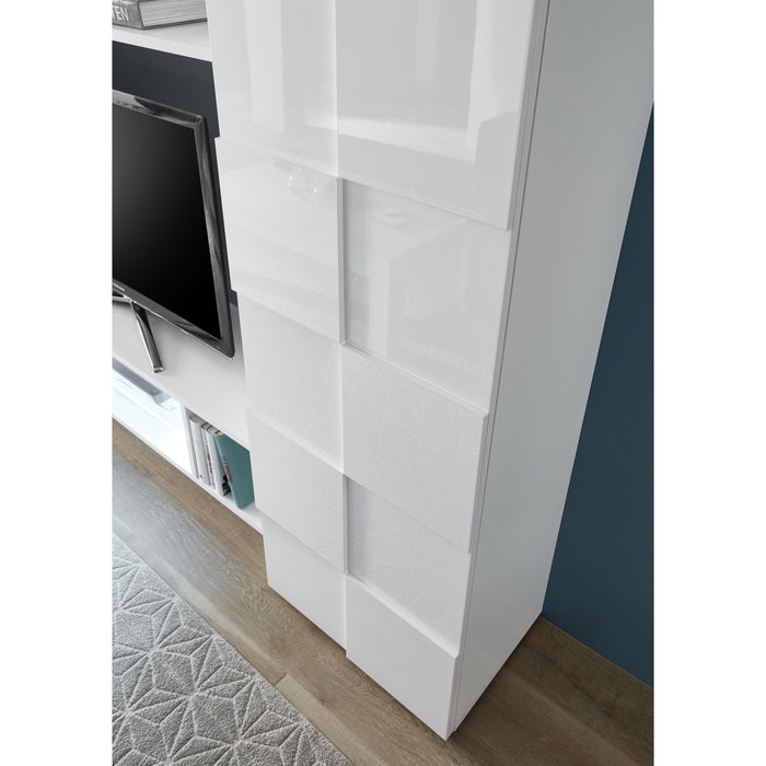 Lyon 2 Door 2 Drawer White Gloss Sideboard - FurniComp