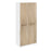 Lara White and Oak 2 Door Wardrobe - FurniComp