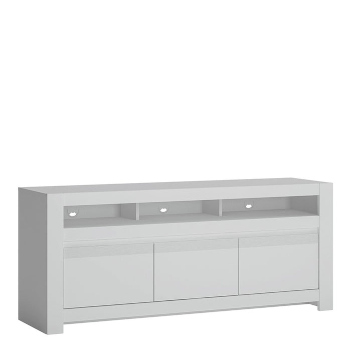 Lloyd Alpine White 2 Door 1 Drawer TV Unit - FurniComp