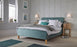 Lucien Aqua Velvet Fabric Bed - FurniComp