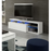 Lumen White Soft Gloss TV and Media Unit With LED Lights - FurniComp
