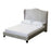 Manor Silver Velvet Winged Headboard Bed - FurniComp