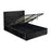 Marino Black Crushed Velvet Ottoman Lift Up Storage Bed - FurniComp