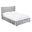 Marino Silver Crushed Velvet Ottoman Lift Up Storage Bed - FurniComp