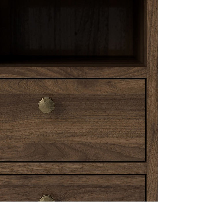 Marseille 2 Drawer Walnut Bedside - FurniComp
